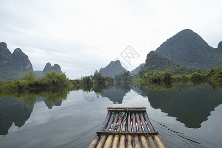 中国阳朔竹筏图片