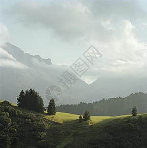 奥地利莱赫山脉景观图片
