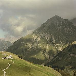 奥地利莱赫山区景观图片