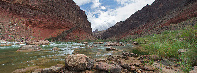 美国亚利桑那州大峡谷的新汉斯科罗拉多河图片