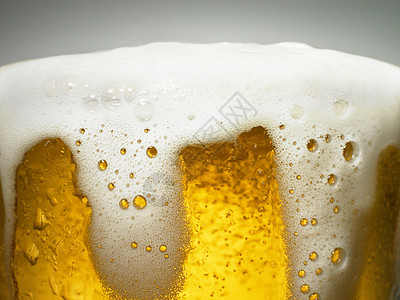 泡沫啤酒特写图片