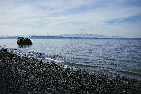 美国华盛顿州西雅图圆石滩图片