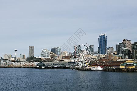 美国华盛顿州普吉湾西雅图市图片