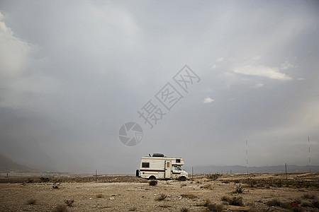 美国拉斯维加斯内华达沙漠露营车图片