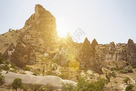 土耳其安纳托利亚卡帕多西亚乌奇萨村图片