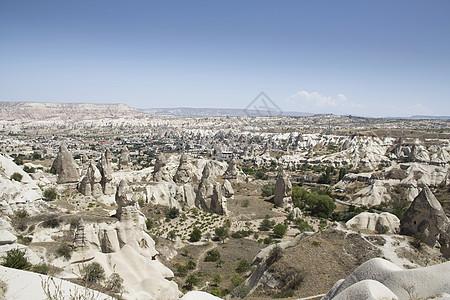 土耳其安纳托利亚卡帕多西亚岩层远景图图片