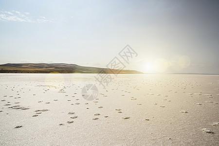 图兹湖盐湖卡帕多西亚安纳托利亚土耳其景观图片