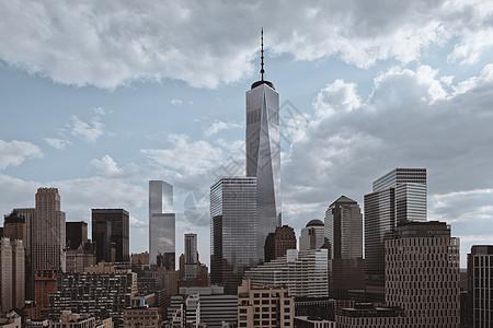 一个世界贸易中心和自由塔的景色,纽约,美国图片