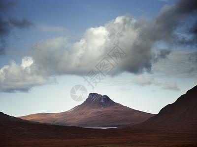 苏格兰斯塔克-波莱德山上空的云图片