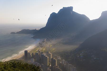 巴西里约热内卢Sao Conrado远视图图片