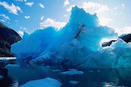 莱孔特湾的冰层图片