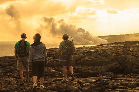 美国夏威夷大岛卡拉帕纳基拉韦亚熔岩流图片