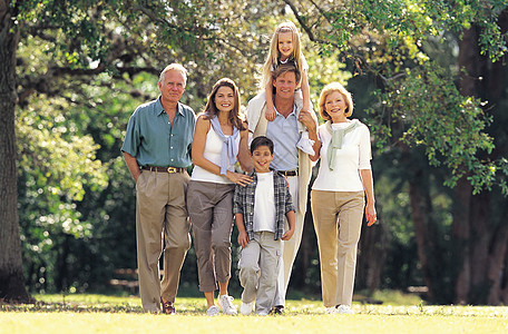一家人合影图片