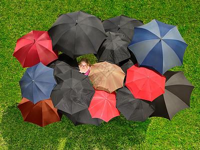 五颜六色的伞图片