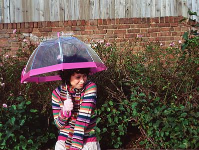 带透明伞的女人图片