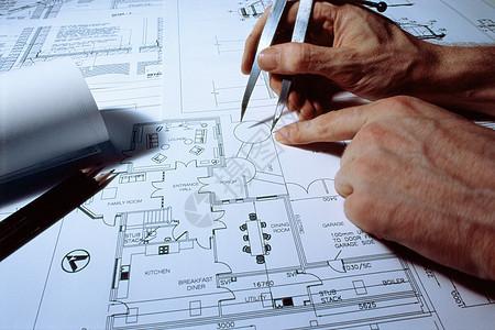 设计蓝图的建筑师图片