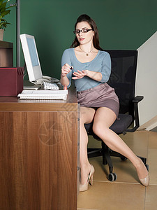性感办公室接待员/工人图片