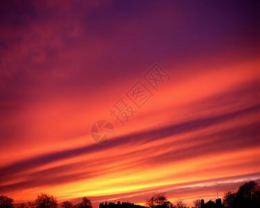 云天落日图片