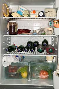 冰箱里的食物图片