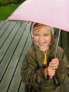 伞下的女孩图片
