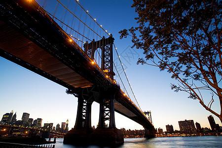 晚上的曼哈顿大桥图片