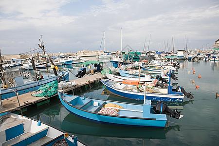 雅法港的渔船图片