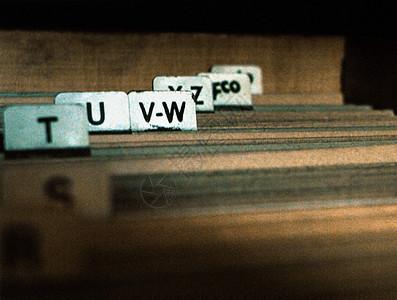 按字母顺序排列的文件图片
