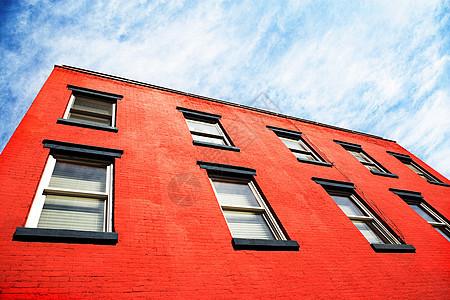 红色建筑图片