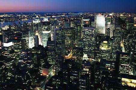 纽约的晚上图片