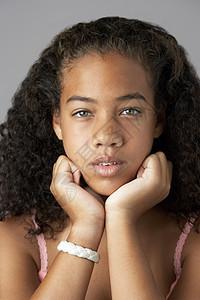 黑人少女画像图片