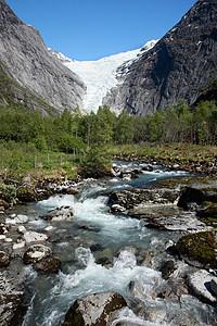 挪威斯瓦尔巴群岛山溪图片