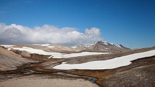 挪威北极熊岛的风景图片