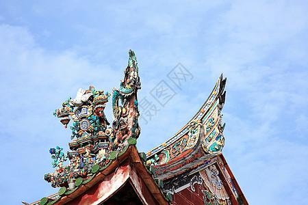马来西亚乔治镇中国宗族住宅屋顶装饰图片