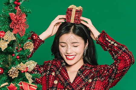 圣诞时尚美女图片