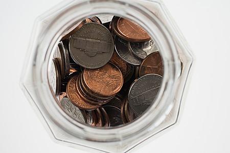 一罐硬币图片