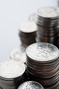 成堆的美国硬币图片