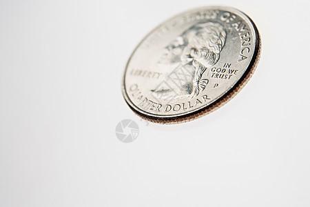 美元硬币图片