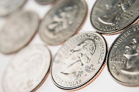 四分之一美元硬币图片