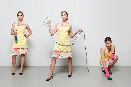 做家务的女人图片