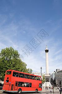 纳尔逊柱和特拉法加广场图片