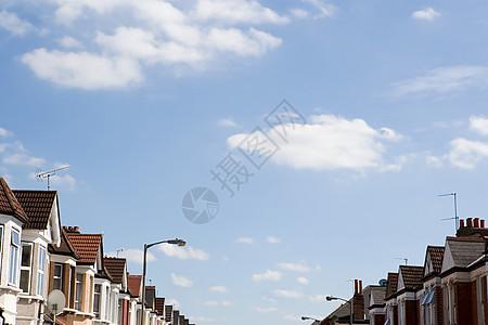 街上的房子图片
