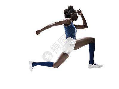 年轻女子跳跃图片