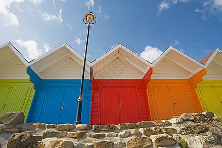 海滩小屋图片