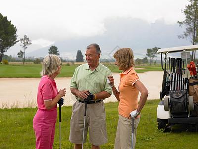 高尔夫球手聊天图片