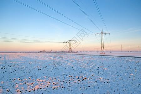 冬季电气塔图片