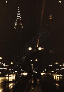 克莱斯勒大厦夜景图片