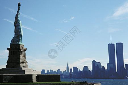 曼哈顿自由女神像图片