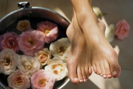玫瑰泡脚图片