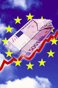 飞扬的欧元图片
