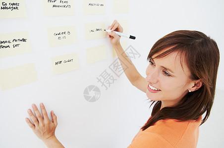 写规划的女人图片